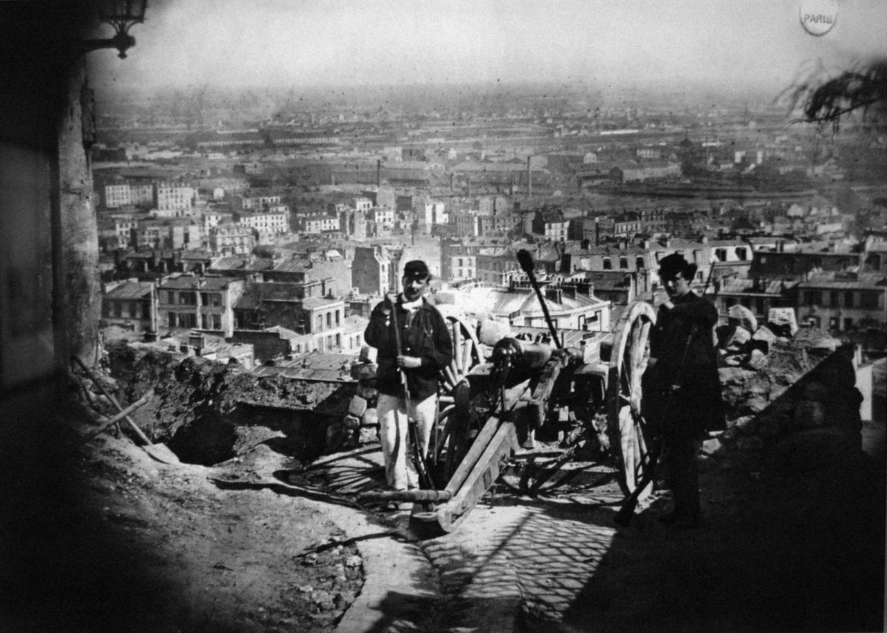 barricade montmartre commune paris 1871 - commemoration marche du livre ancien brassens
